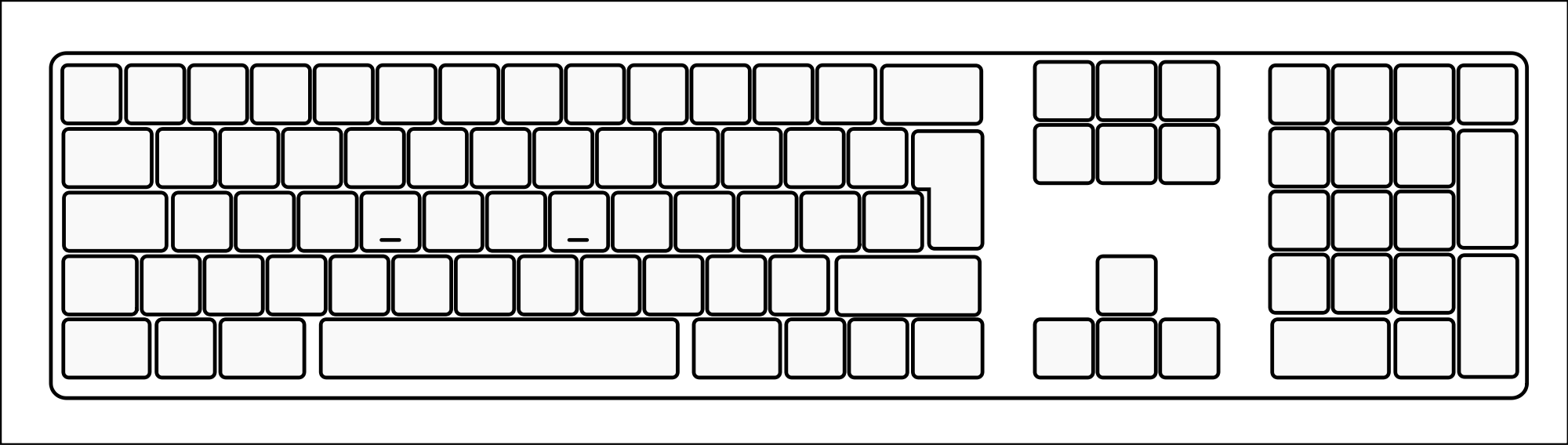 Drawing keyboard blank. Collection of computer