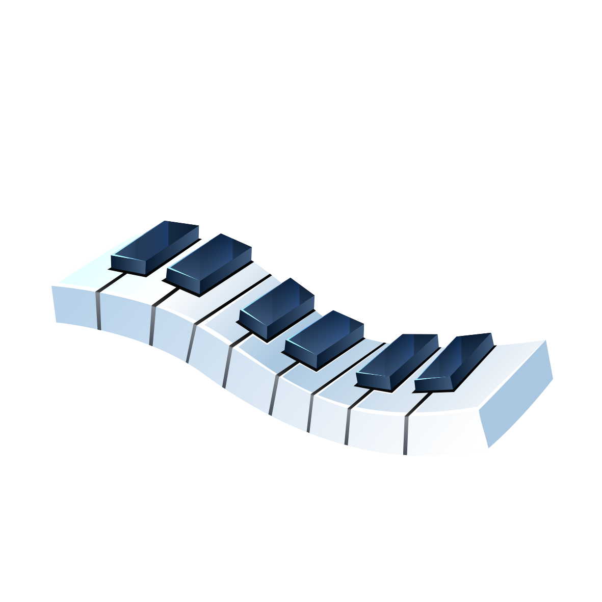 Drawing keyboard electric. Piano musical black and