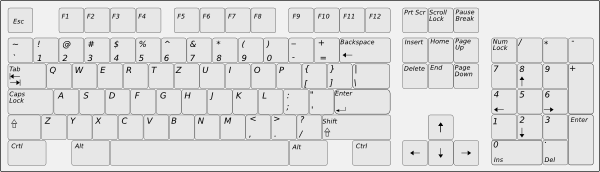 Drawing keyboard qwerty. Clip art at clker