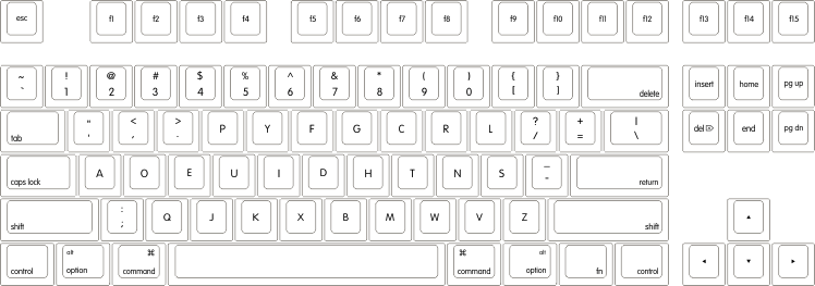 Drawing keyboard standard. Wasd keyboards v key