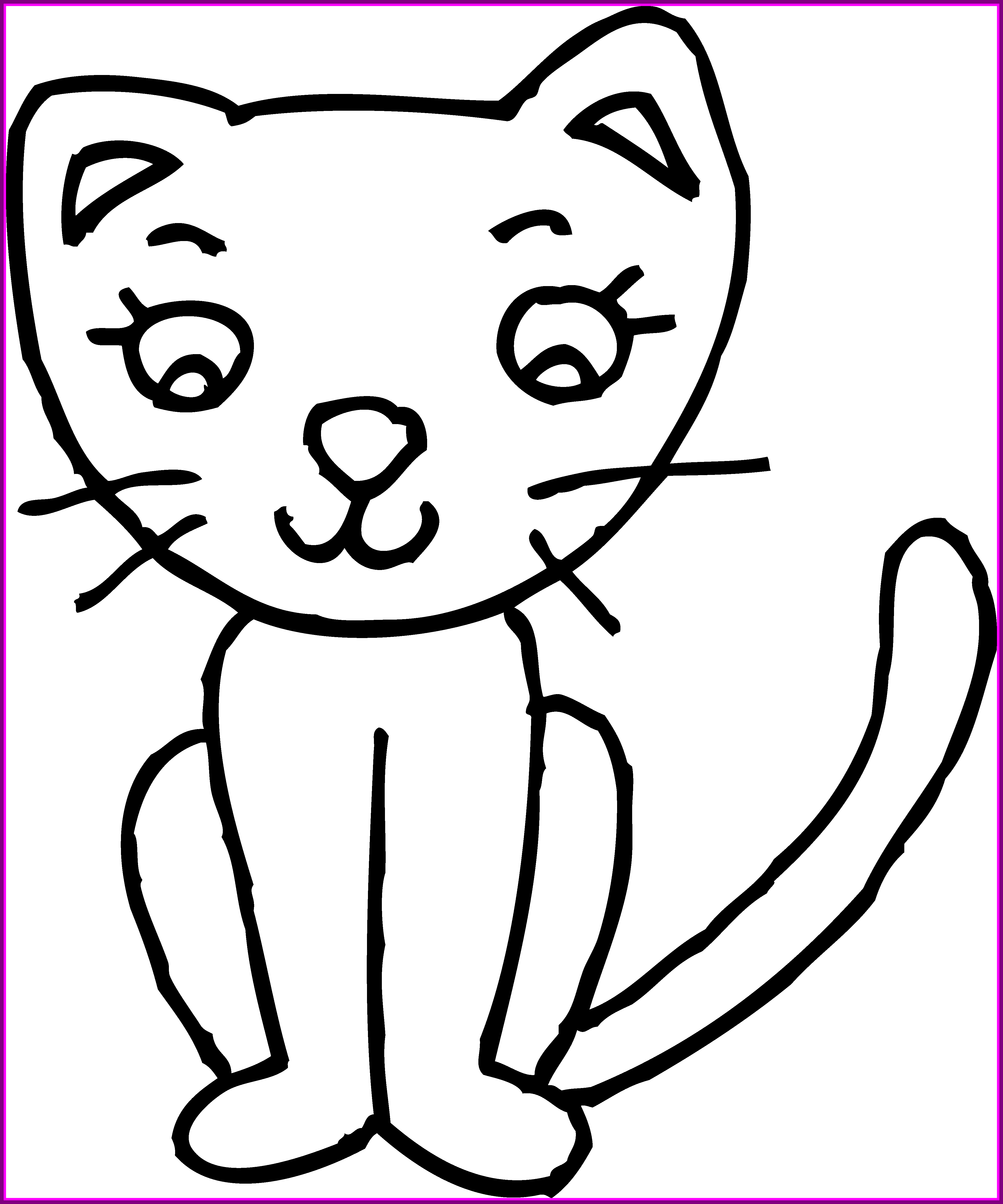 Numbers drawing cat. Kitten clip art library