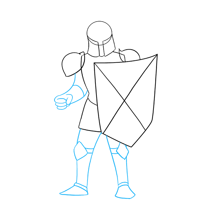 Drawing knight sketch. How to draw a