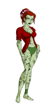 Drawing knight arkham. Poison ivy by spiedyfan