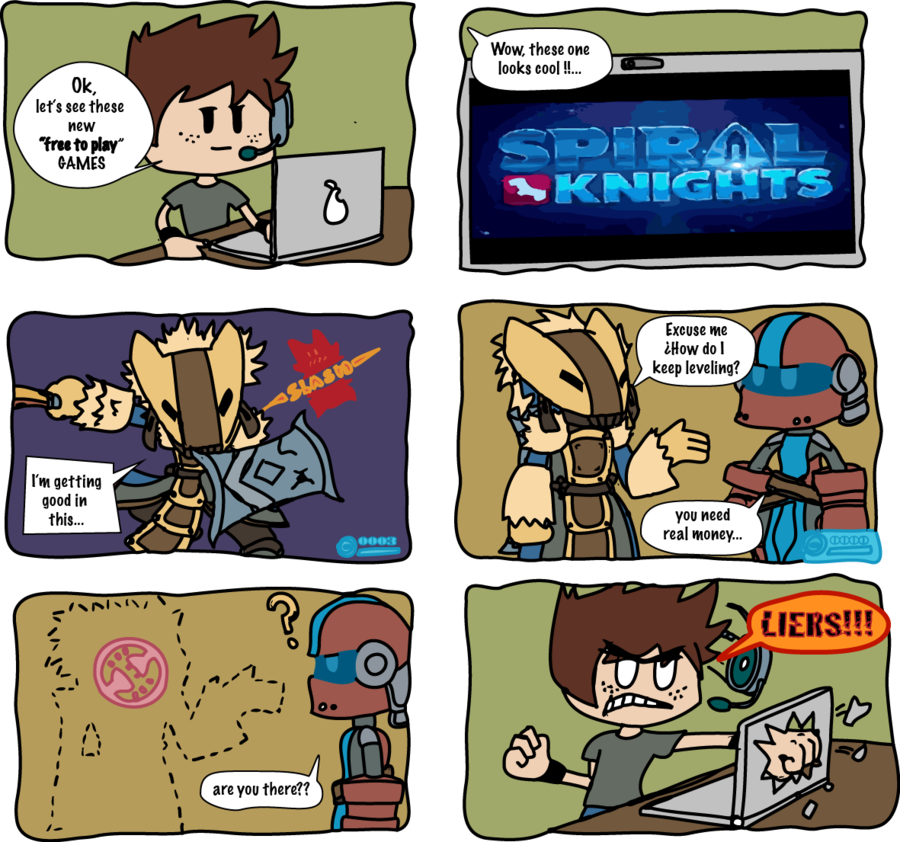Drawing knight comic. Spiral knights free to