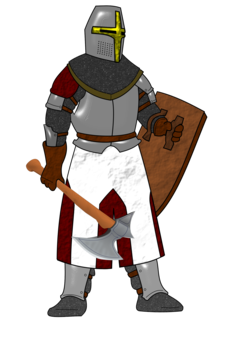 Drawing knight crusader. Crusades middle ages warrior