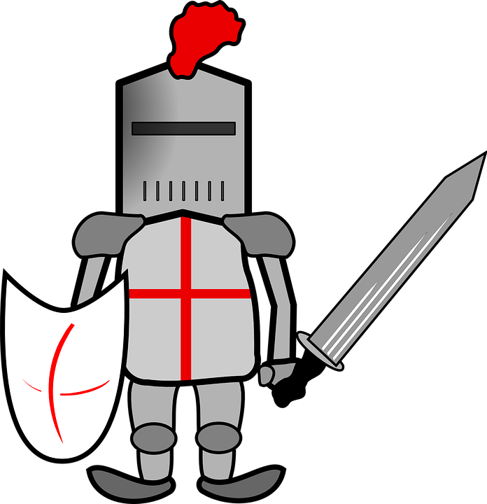 Vector knight armor god. Collection of free crusading