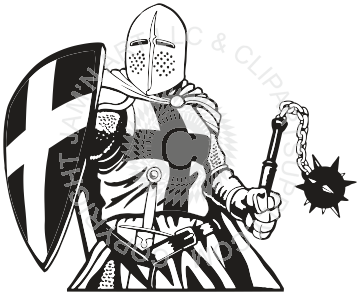 Drawing knight crusader. Collection of free crusading