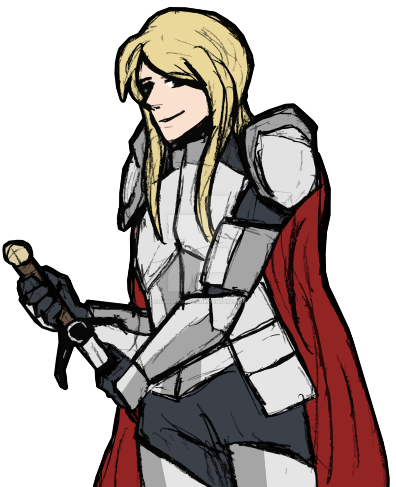 Drawing knight male. Androgynous rough color by