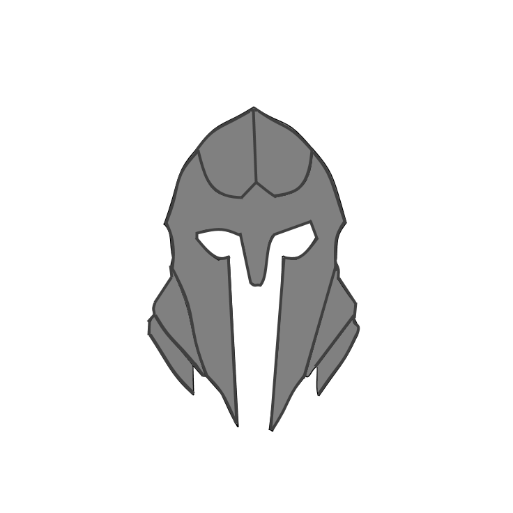 Drawing knight helmet. Opengameart org knightpng