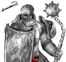 Drawing knight realistic. Fr commission by animeten