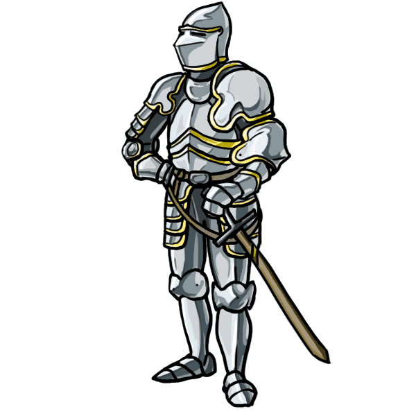 Drawing knight standing. How to draw knights