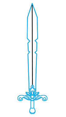 Drawing knight sword. How to draw a