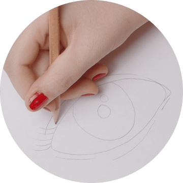 Drawing oval simple. Draw a portrait diy