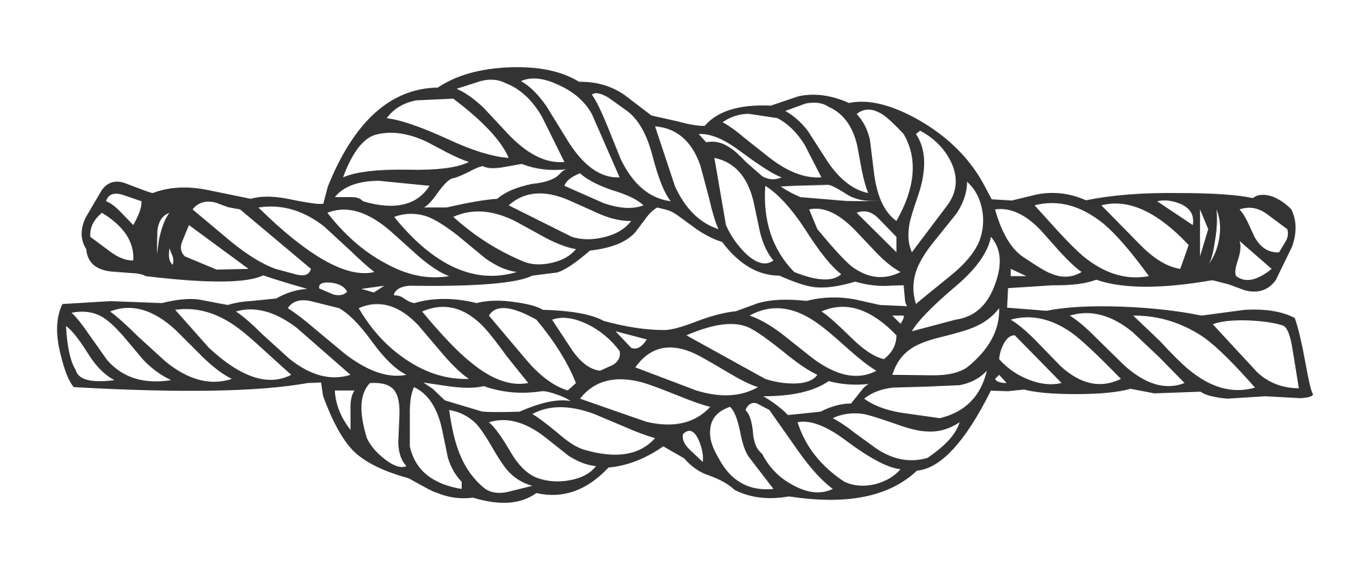 Drawing knots boat. File reef knot svg