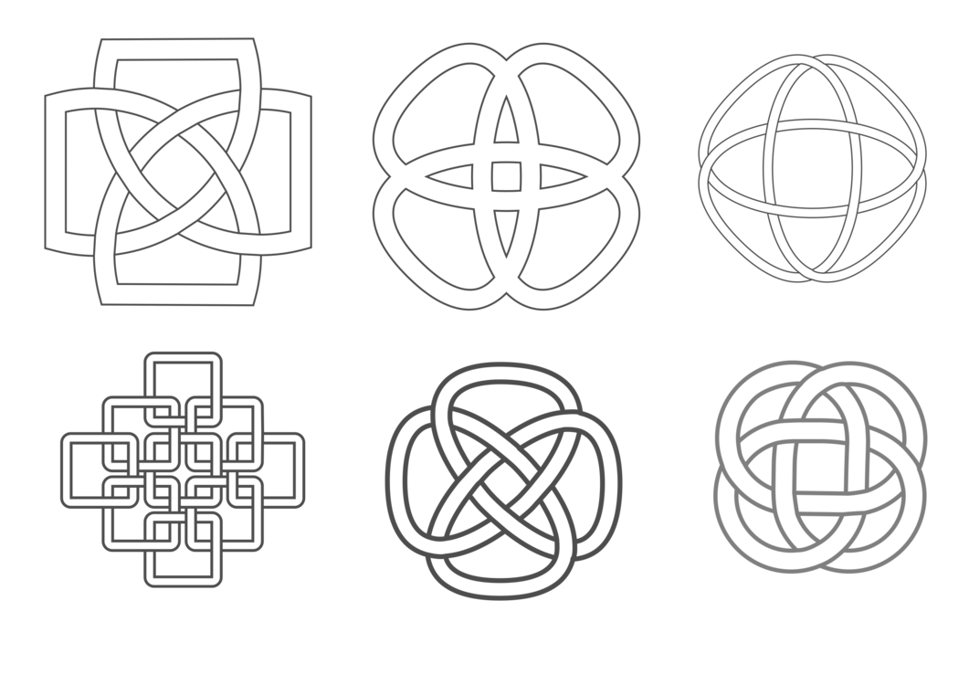 Drawing knots bow. Celtic knot celts islamic