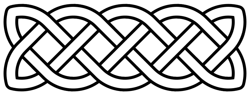 Drawing knots family. The knot around top