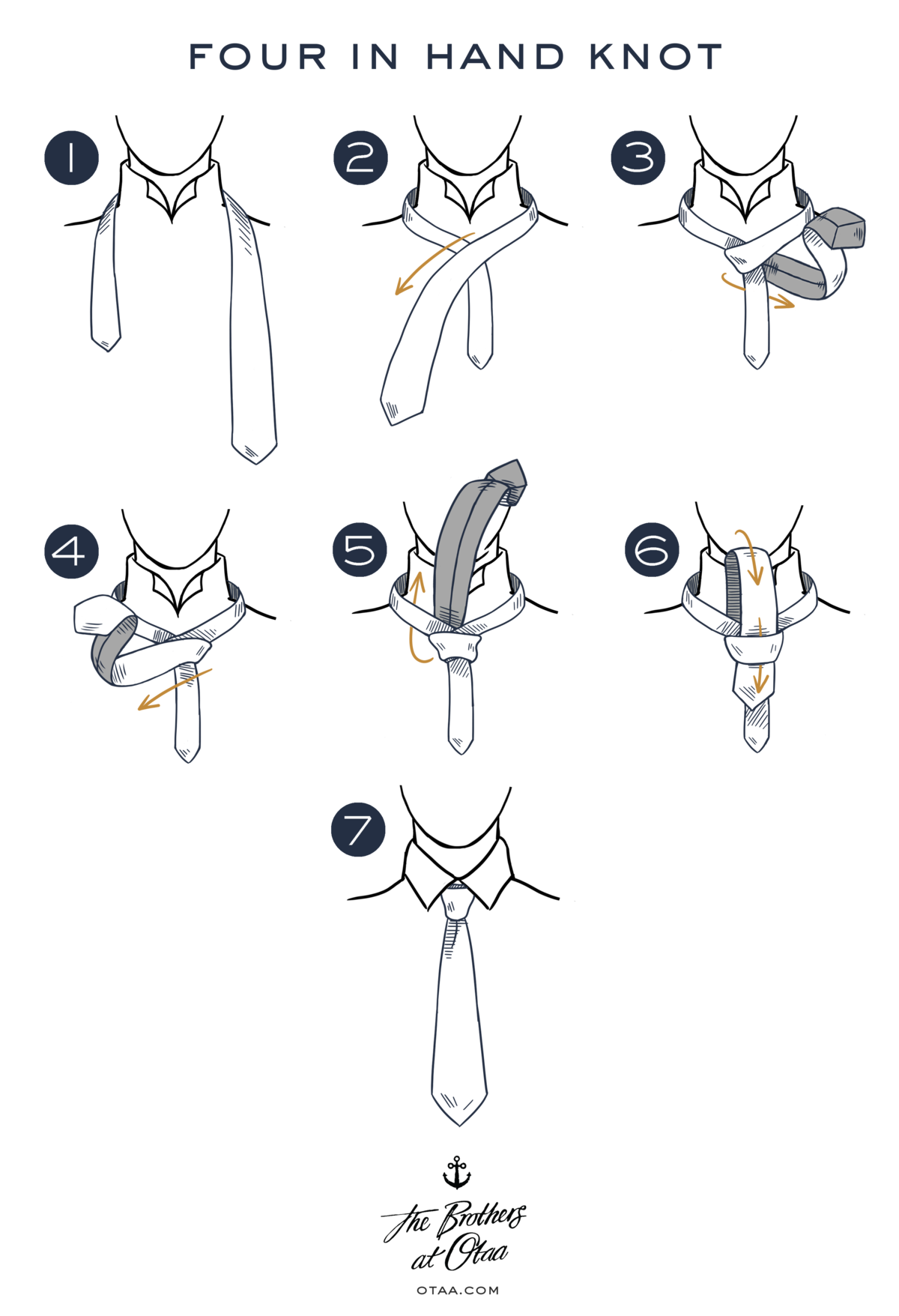 Drawing knots ink. How to tie a