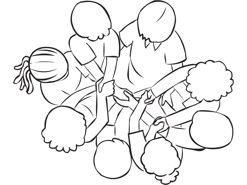 Drawing knots impossible. Human knot classic small