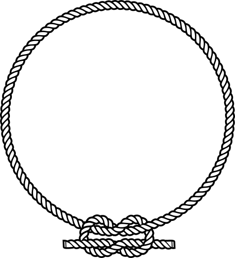 Drawing knots round. Free rope vector clipart