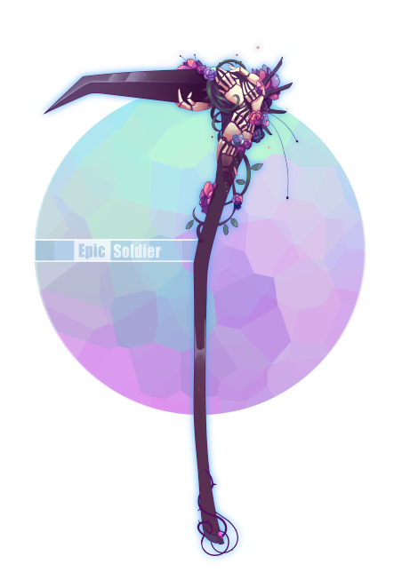 Drawing laboratory epic. Weapon commission by soldier