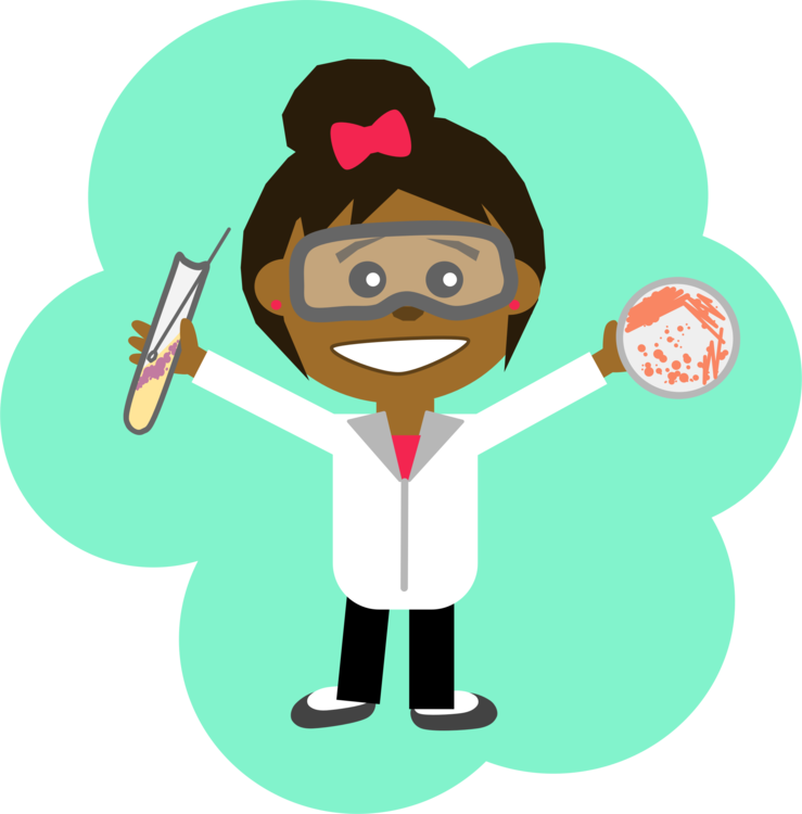 Scientist laboratory computer icons. Woman clipart science clip freeuse library