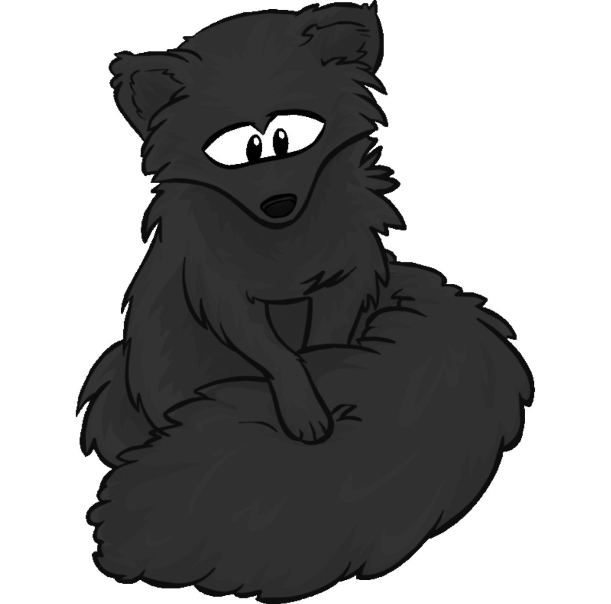 Drawing laboratory shadow. Image the fox png