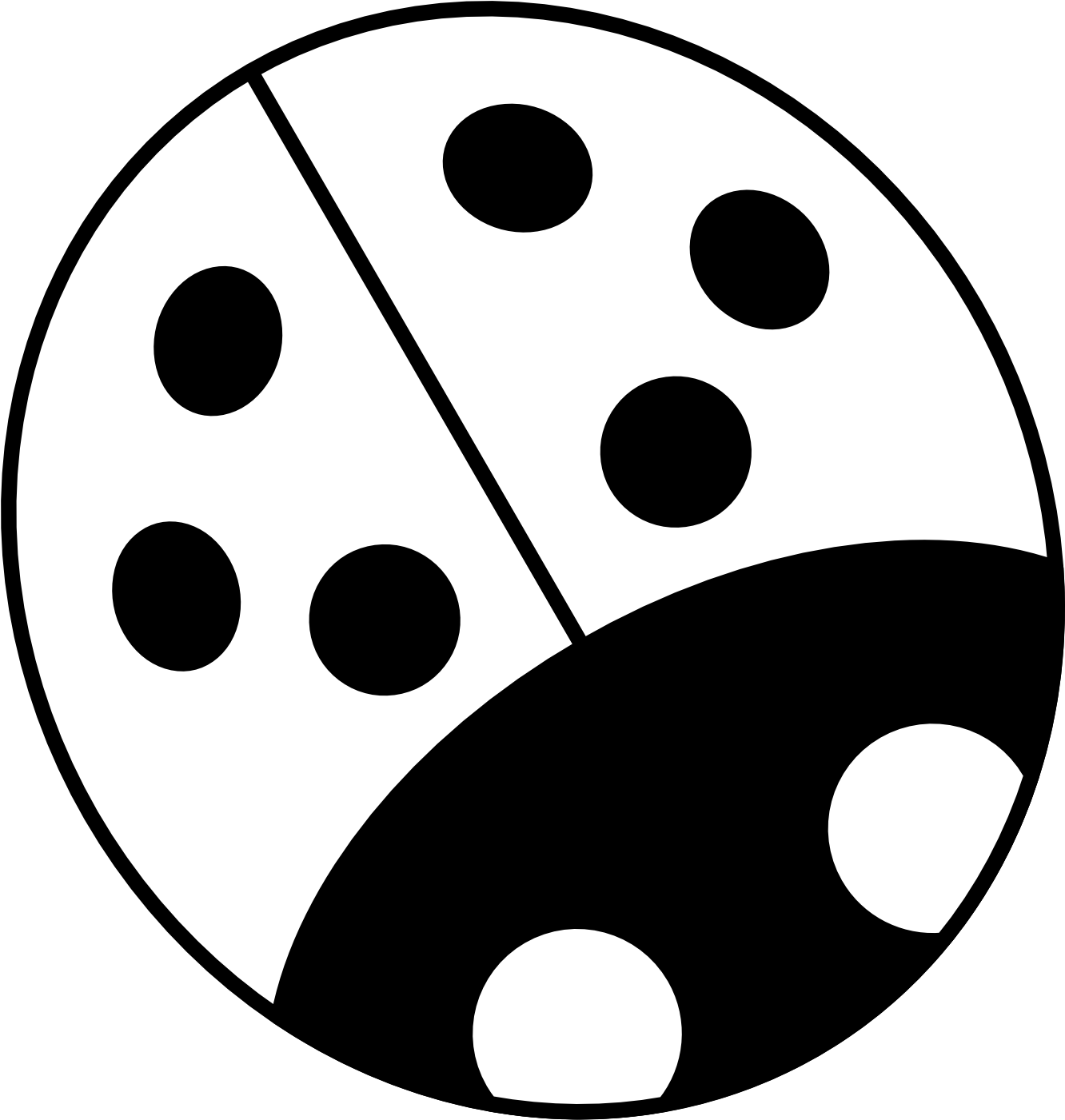 Download hd free white. Drawing ladybug line art picture transparent stock