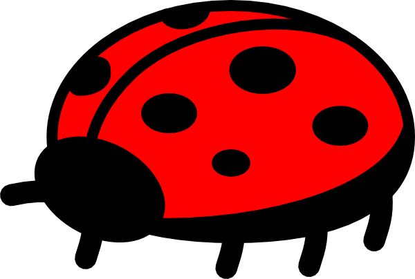 Drawing ladybug kid. Drawings for kids clipart