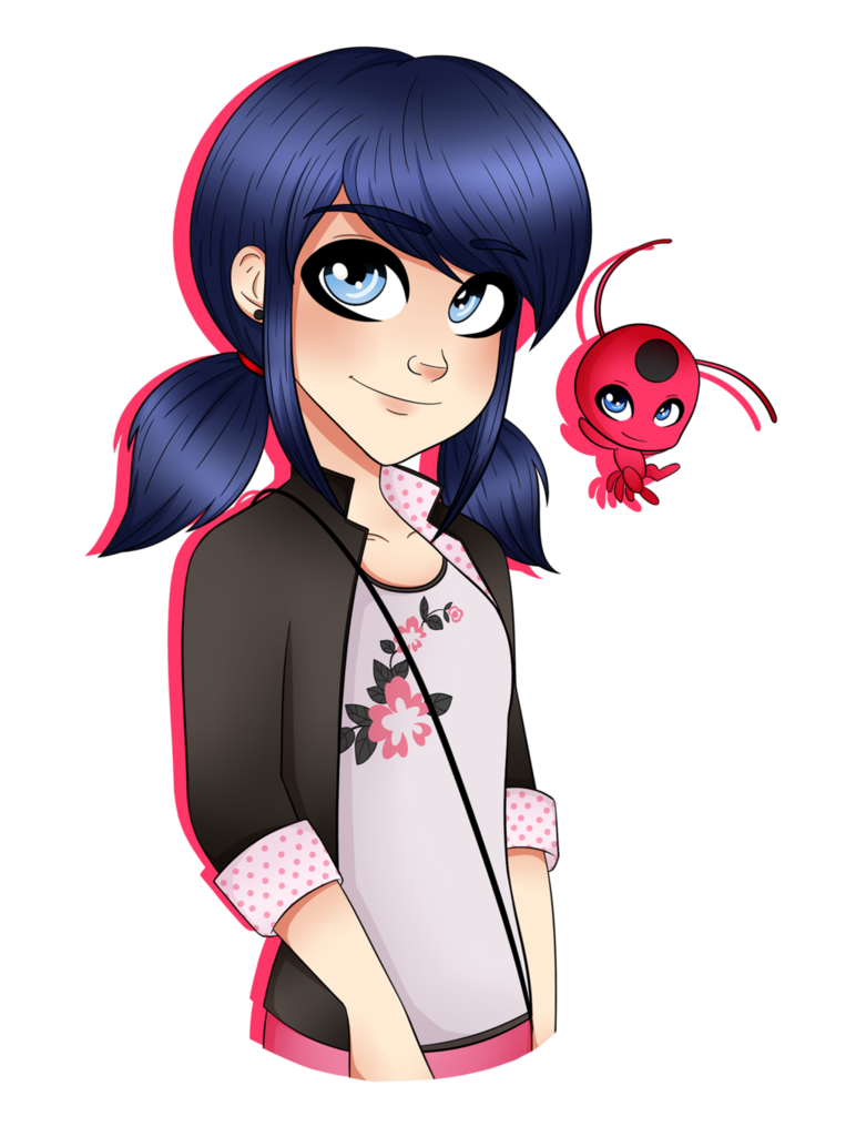 Drawing ladybug marinette. Miraculous and tikki by