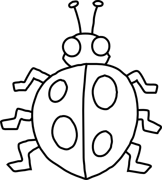 Drawing ladybug outline. Clip art at clker