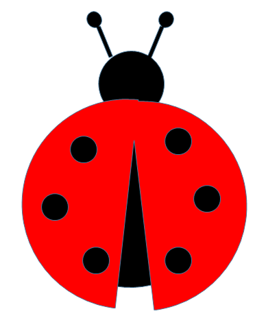 Drawing ladybug quick and easy. Cut out pattern paper