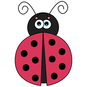 Drawing ladybug spot. Counting spots android apps