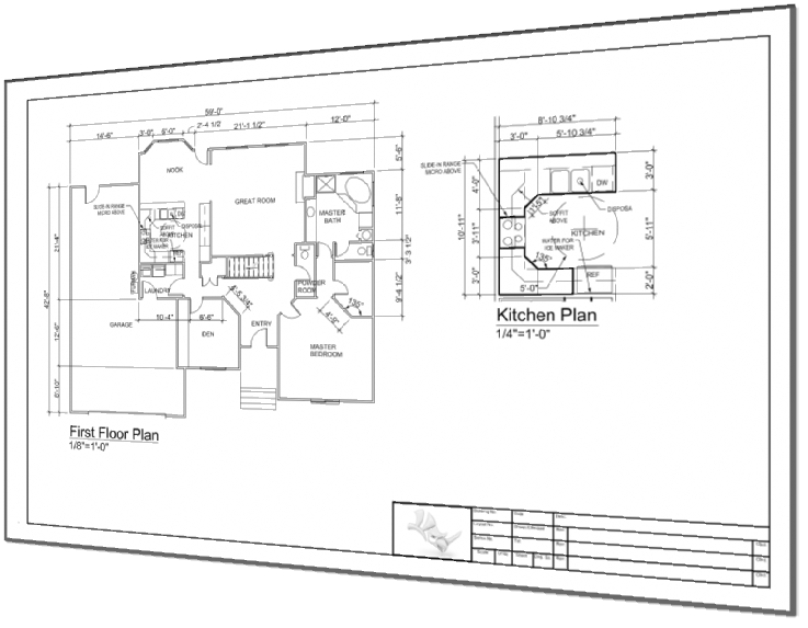 Tec drawing blueprint