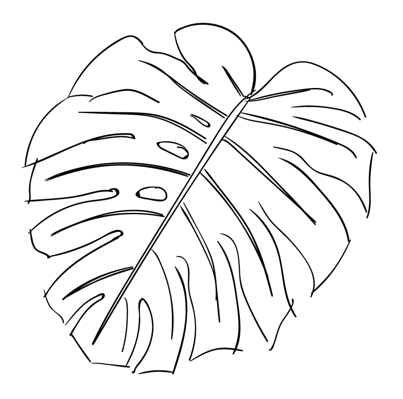 Line of a at. Drawing leaf clip royalty free