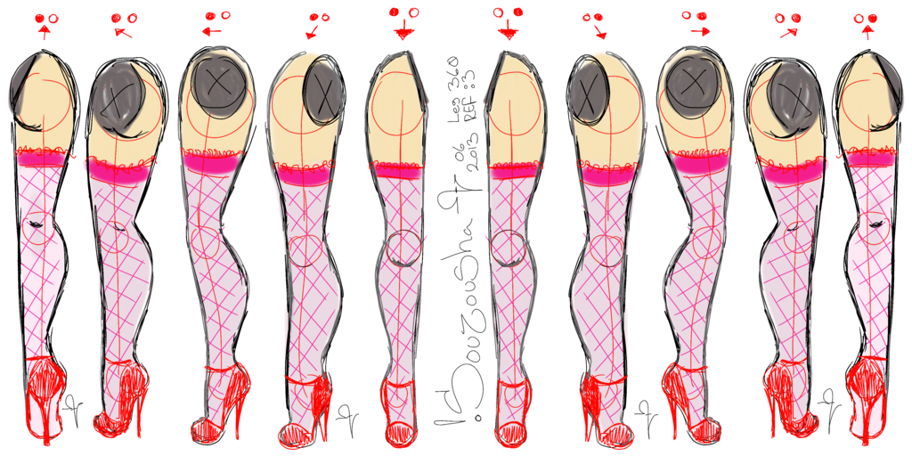 Drawing leg. View how to