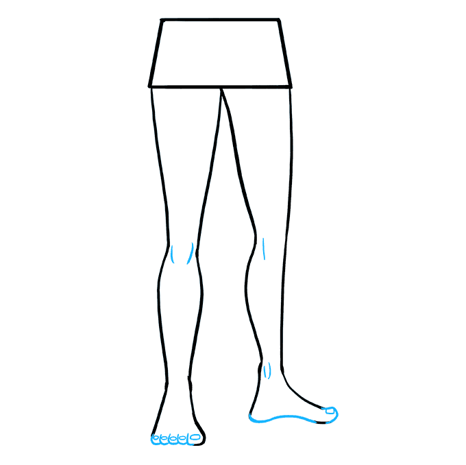 Drawing leg anime. How to draw legs