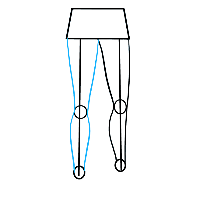 Drawing leg outline. How to draw legs