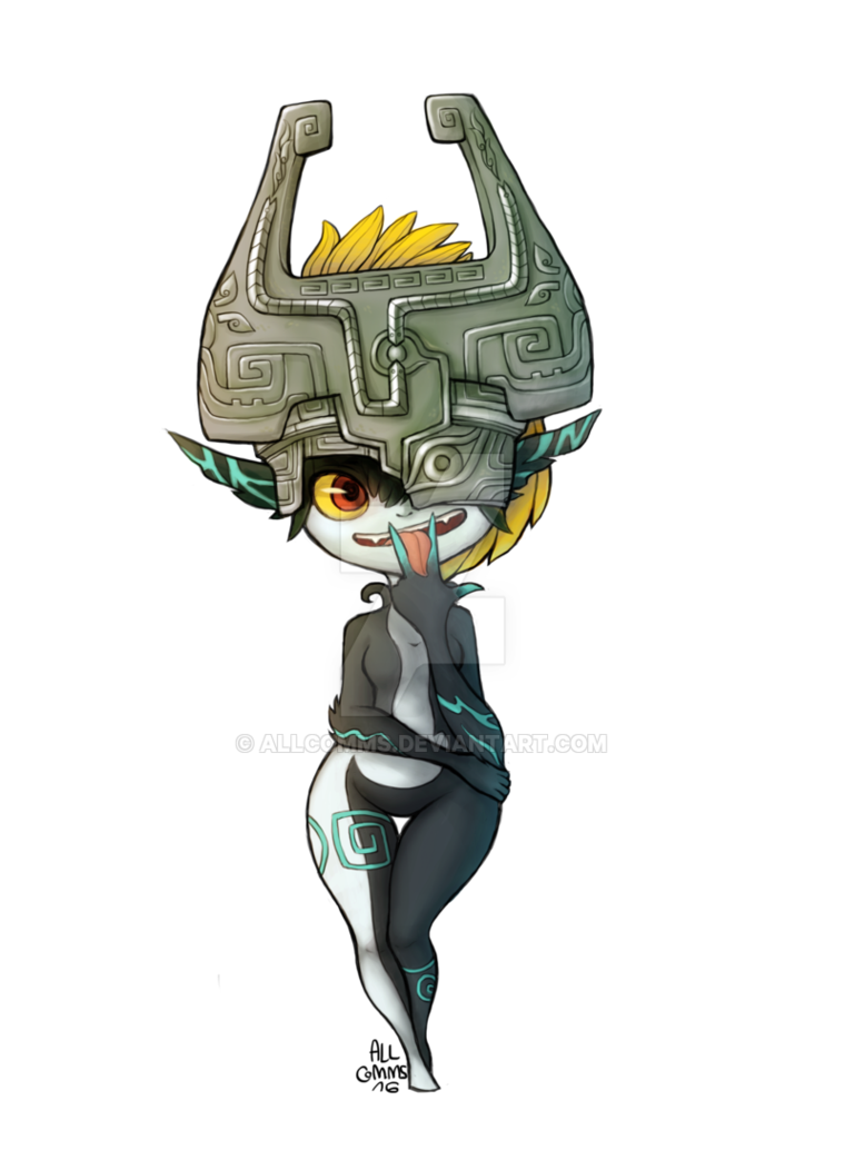 Midna drawing imp. Commission by allcomms on