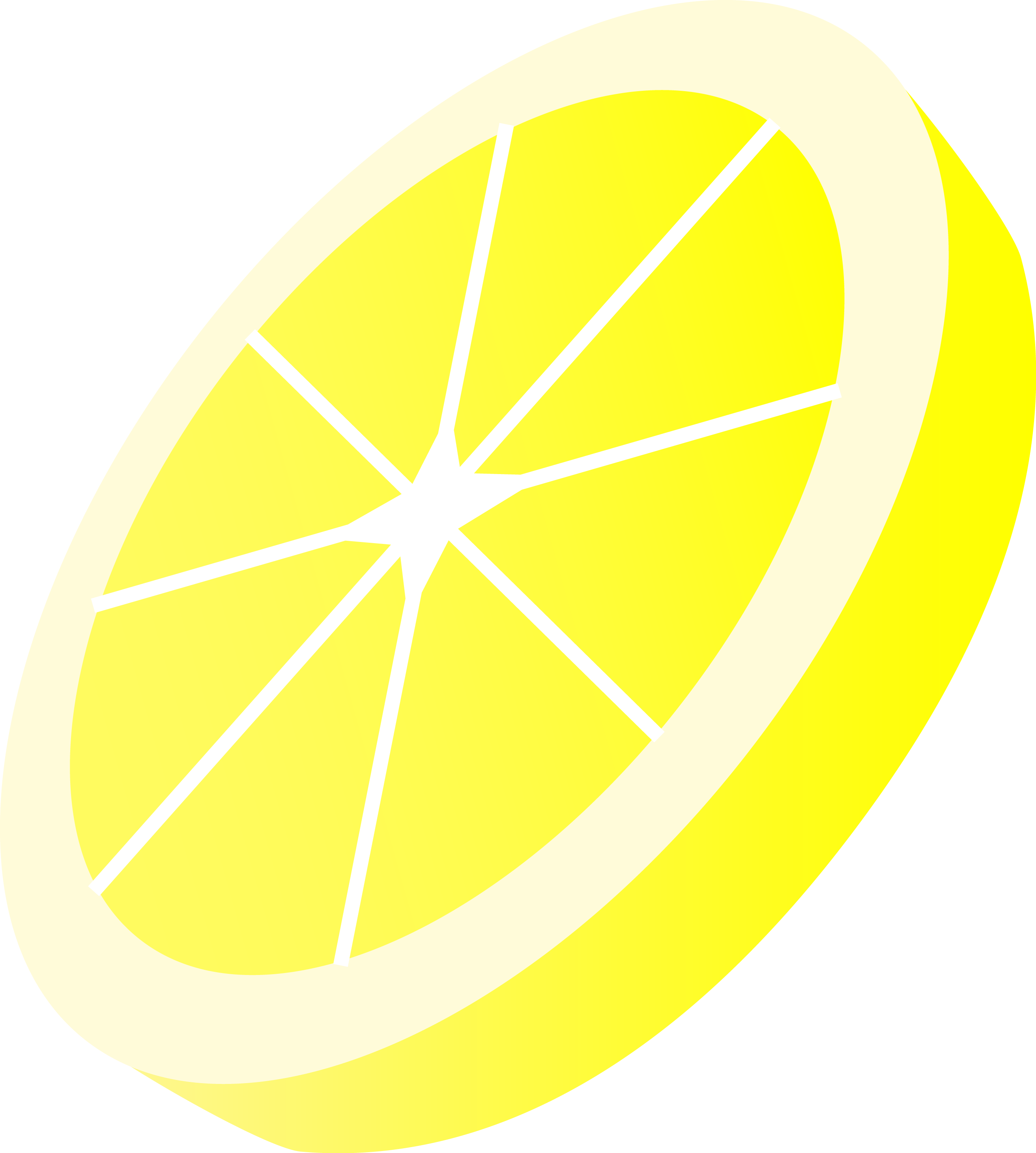 Drawing lemon slice. Round yellow free clip