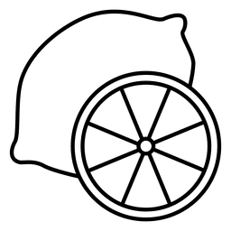 Drawing lemons outline. Seamless lemon pattern vector