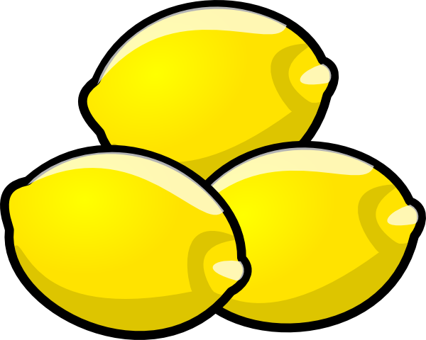 Drawing lemons vector. Cartoon lemon images reverse