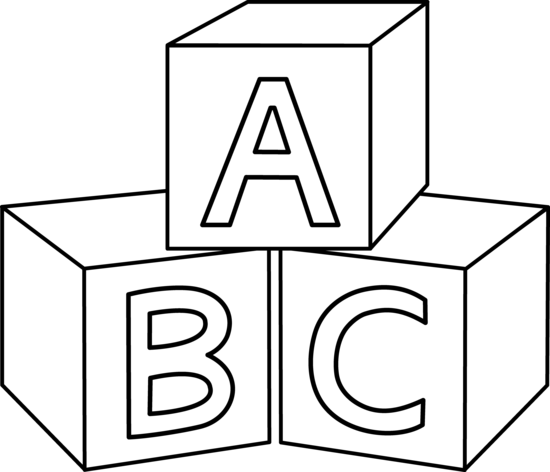 Drawing letter block. Collection of alphabet