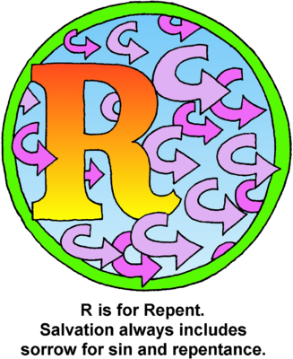 Drawing letter buble. Image r bible alphabet