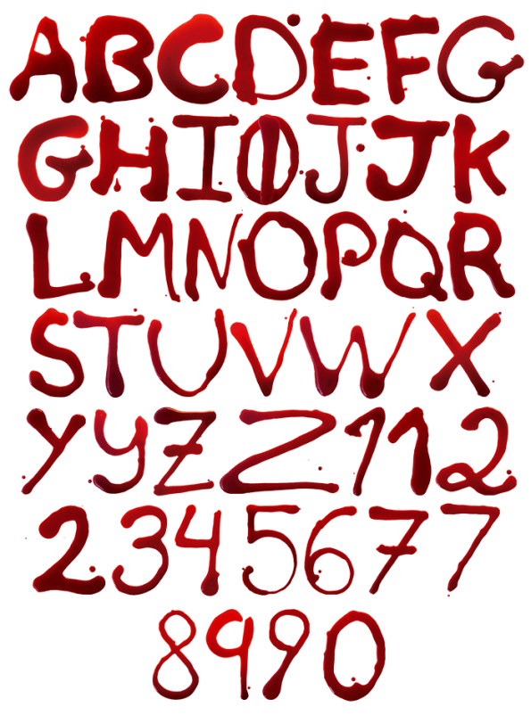 Typographic drawing handmade. Maniac font be afraid