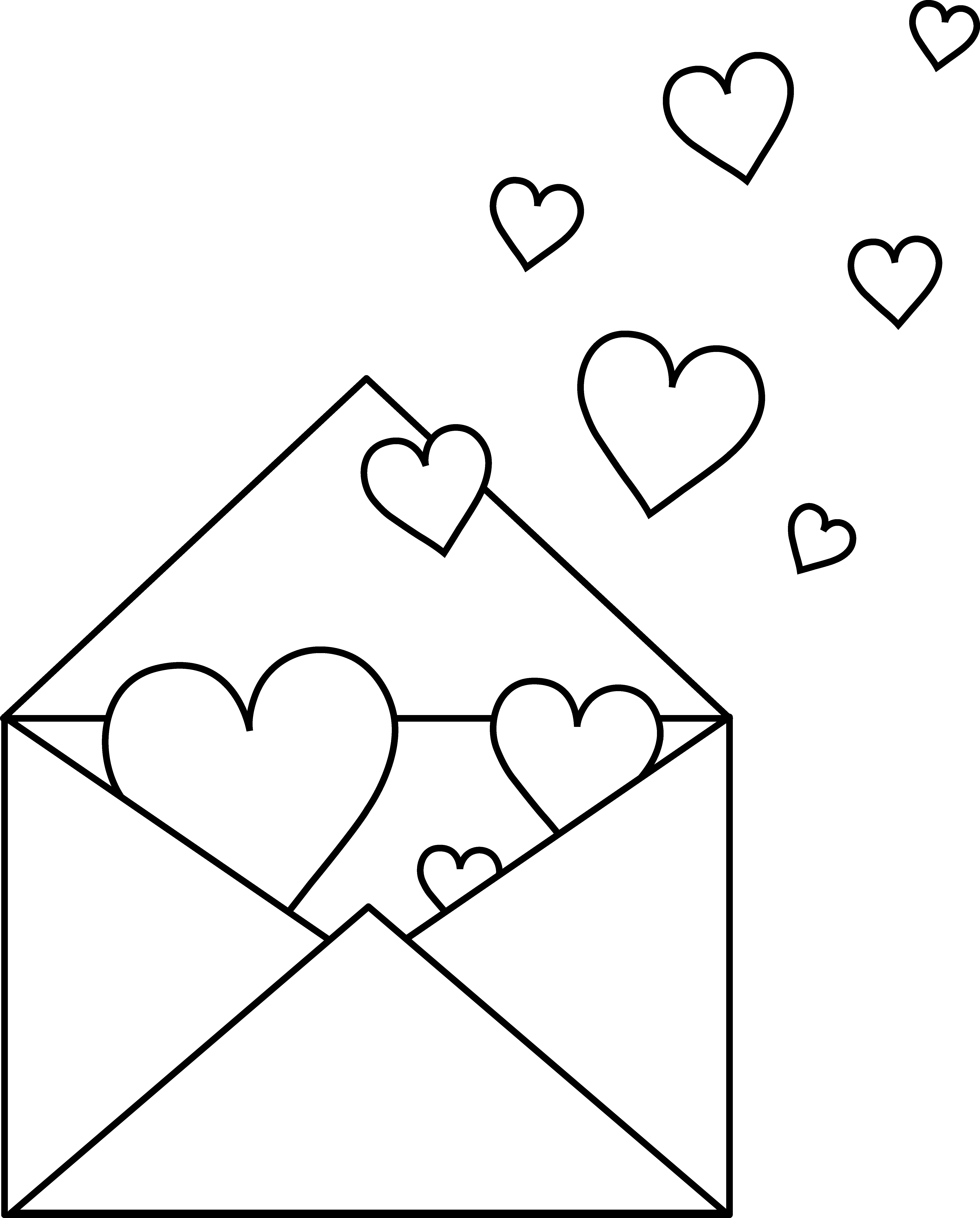 Drawing letter love. Free valentine pictures to
