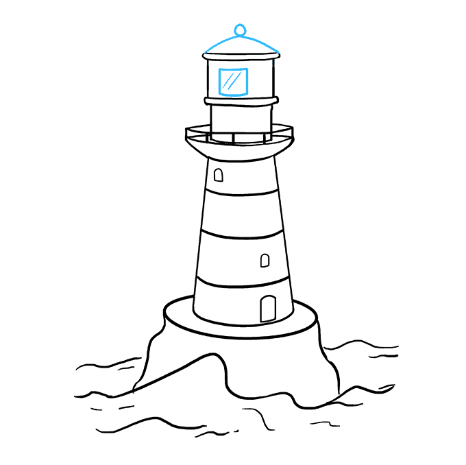 Drawing lighthouse sketch. How to draw a