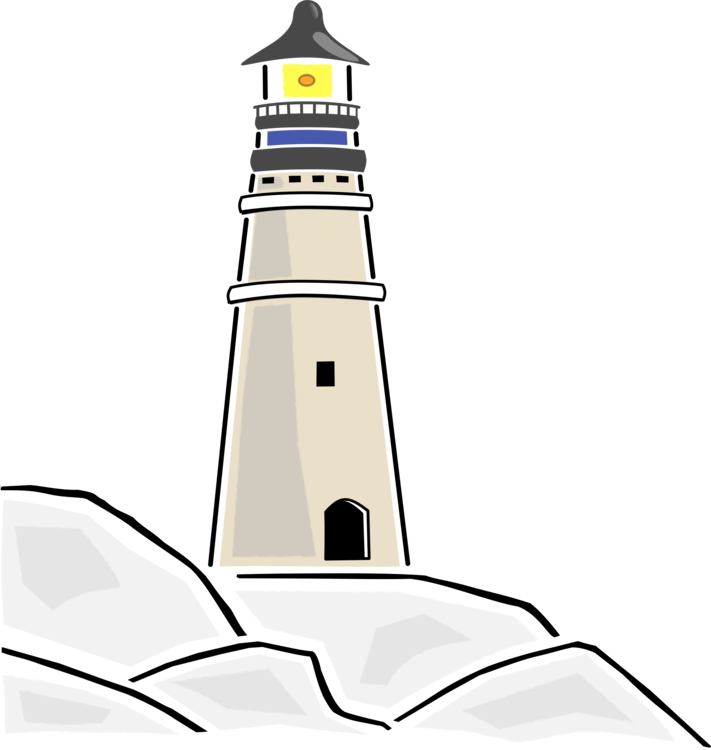 Drawing lighthouse. Download document public domain