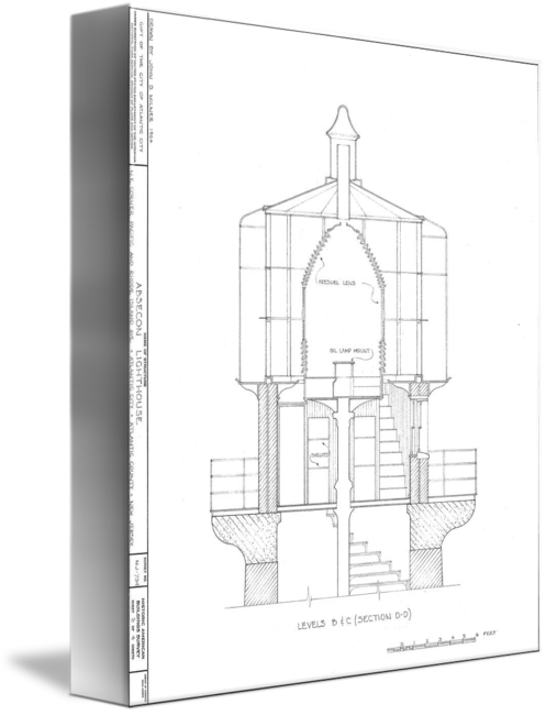 Drawing lighthouse architectural. Absecon blueprint by alleycatshirts