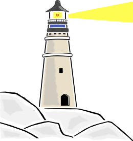 Drawing lighthouse beginner. Animation challenge computing