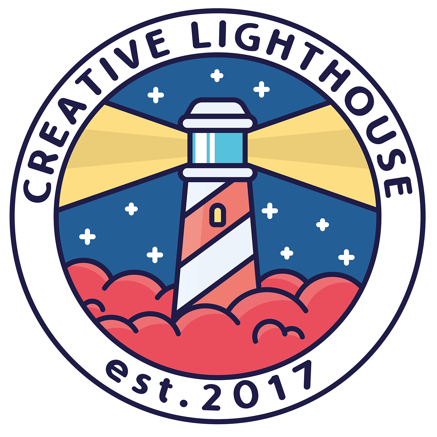 Drawing lighthouse creative. Logo on behance logotype